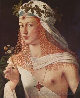 Idealized Portrait Of A Courtesan As Flora