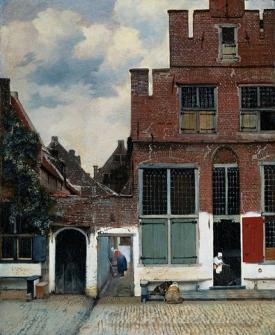 View Of Houses In Delft The Little Street
