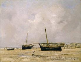 Boats Low Tide