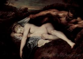Jupiter And Antiope Satyr And Sleeping Nymph