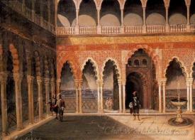 Caballeros En El Alcazar De Sevilla  (Knights Of The Alcazar In Seville)