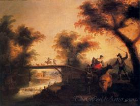 Campesinos De Viaje Y Atravesando Un Puente  (Peasants Traveling And Crossing A Bridge)