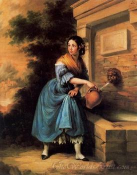 Joven En Una Fuente  (Girl In A Fountain)