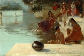 Womans Bathing Place I Oodeypore India