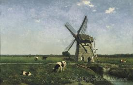 Landscape With Windmill Near Schiedam