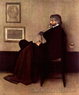 Grey And Black No2 Portrait Of Thomas Carlyle