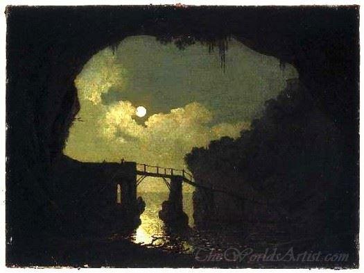 Bridge Through A Cavern Moonlight