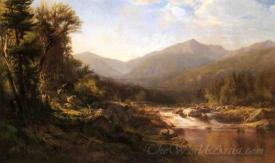 Landscape With Mountains And Stream