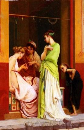 A Seller Of Jewels In Pompeii