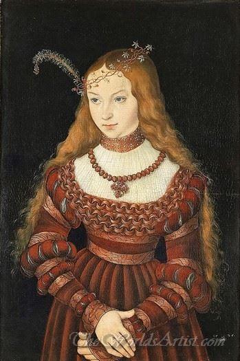 Bildnis Der Prinzessin Sibylle Von Cleve  (Portrait Of Princess Sibylla Of Cleve)