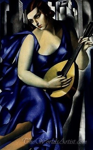 Woman With Mandolin The Musician