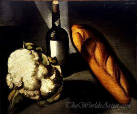 Bottle And Cauliflower