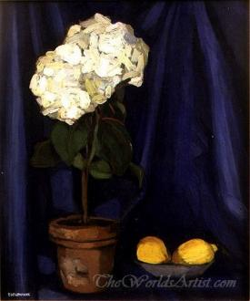 Bouquet Of Hortensias And Lemon