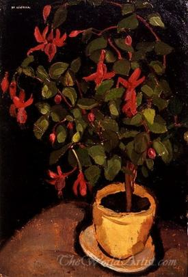 Flowerpot With Fuchsias