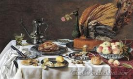 Still Life With A Peacock Pie