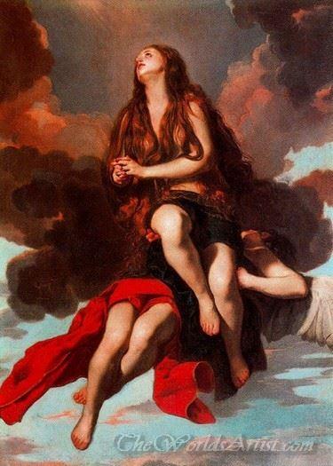 Maddalena Sollevata Da Un Angelo  (Maddalena Raised By An Angel)