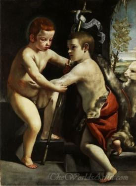 Jesus And John The Baptist As Children