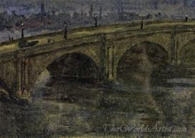 Blackfriars Bridge Moonlight