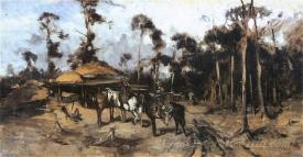 Dwaj Jezdzcy W Lesie  (Two Riders In The Forest)