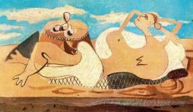 Desnudo Acostado Y Velador  (Laying Naked And Watchman)