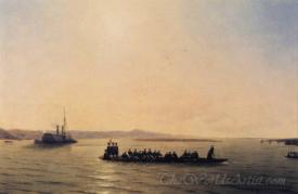 Alexander Ii Crossing The Danube