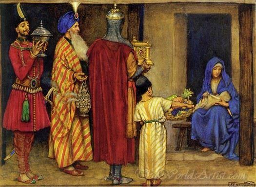 Three Wise Men Bearing Gifts