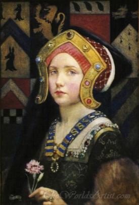 Head Of A Tudor Girl