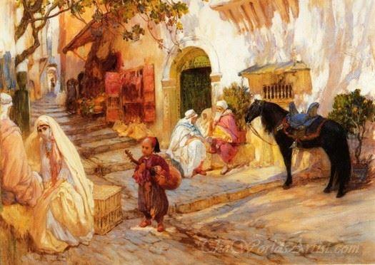A Street Scene In Algeria  (An Algerian Street)