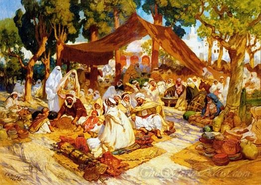 An Evening Gathering At A North African Encampment