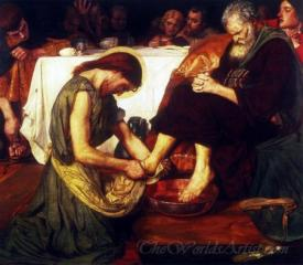 Jesus Washing Peters Feet At The Last Supper