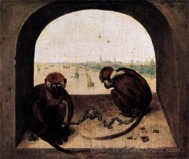Two Chained Monkeys