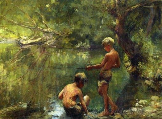Two Boys Fishing