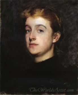 Portrait Sketch Of Eleanor Hardy Bunker