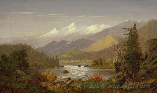 Mt Shasta And The Sacramento River