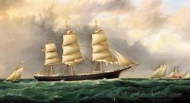 A Ships Portrait Near Sandy Hook