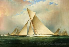 Americas Cup Yacht Vigilant 1893