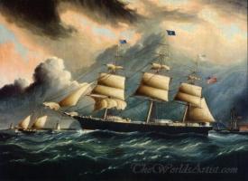 Clipper Gaspee Off Sandy Hook