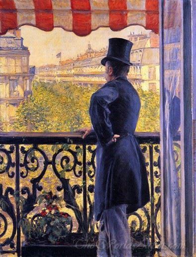 Man On A Balcony Boulevard Haussmann