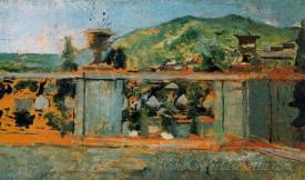 Balaustrada Y Paisaje  (Balustrade And Landscape)