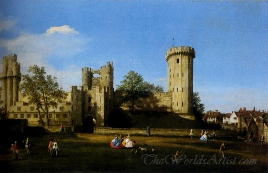 The East Facade Of Warwick Castle