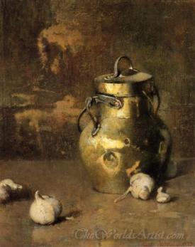 Brass Jar With Onions