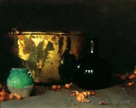 Still Life With A Brass Kettle