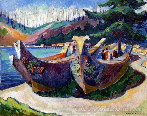 War Canoes Alert Bay
