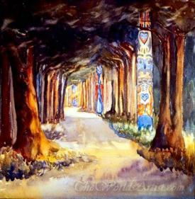 Totem Walk At Sitka