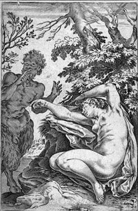 A Satyr Approaching A Sleeping Nymph
