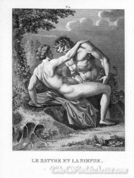 Le Satyre Et La Nimphe