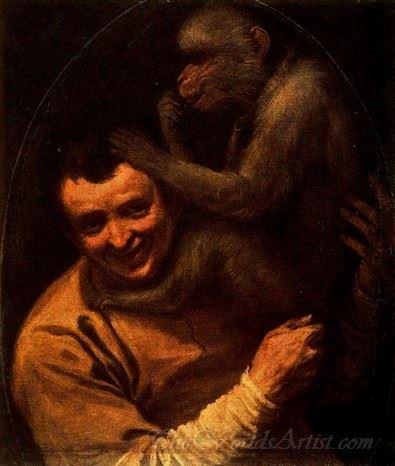 A Man With A Monkey