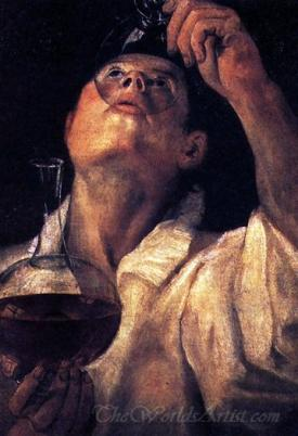 Portrait Of A Man Drinking