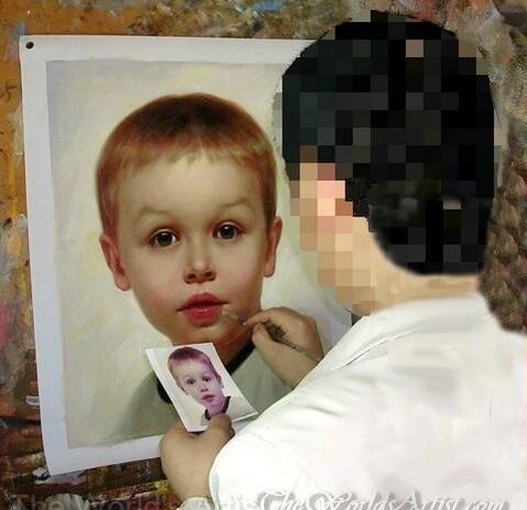 hand painted oil portrait of children