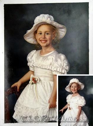 oil portrait of children from photos
